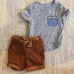Boys t shirt/ short set